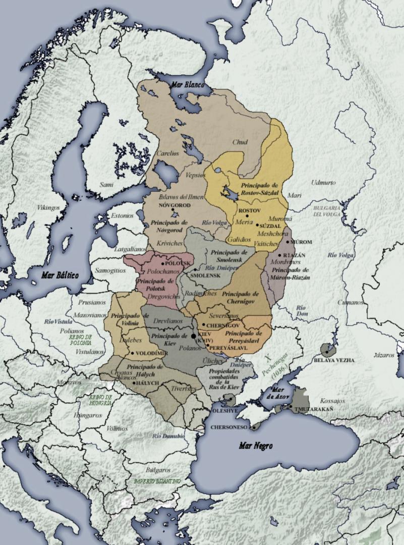 Rus de Kiev durante su máxima expansión. Siglos XI a XII